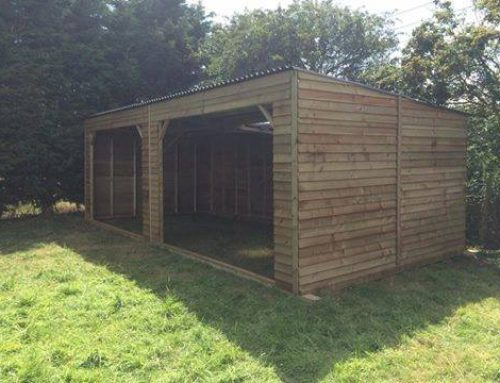 Open Fronted Field Shelter Delivered and Installed