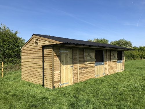 12 X 30 Timber Stable Units