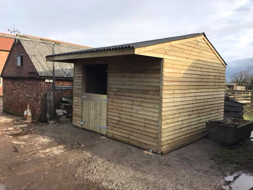 12 x 12 Stable Weatherboard Timber