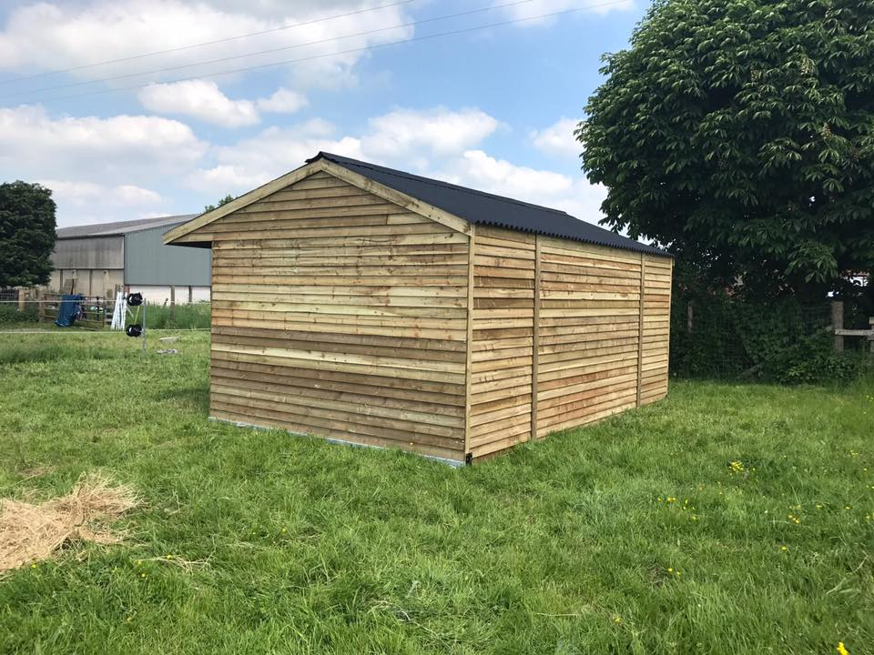 12 x 18 Field Shelter Apex Roof Weatherboard Timber