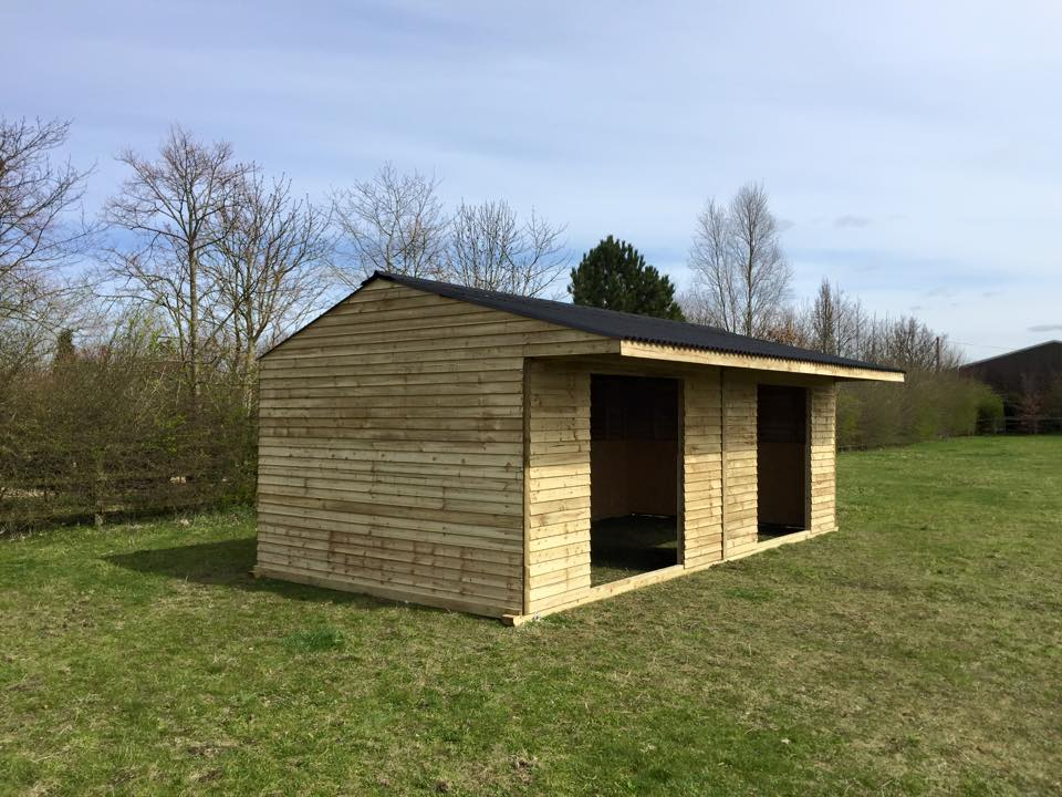 2 x 24 Field Shelter Weatherboard Timber