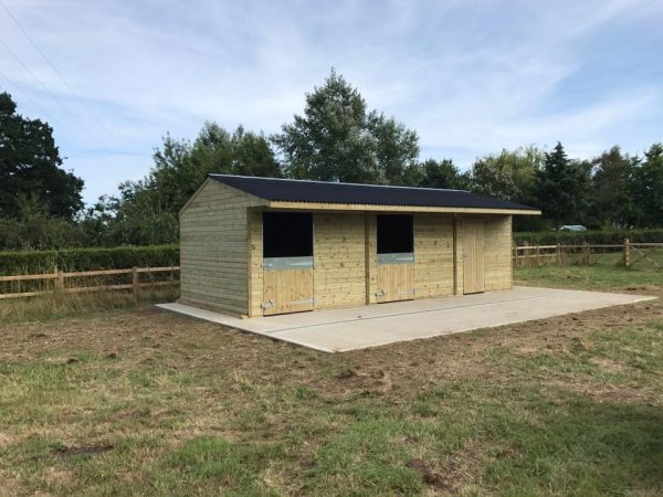 Double stable block with tack room