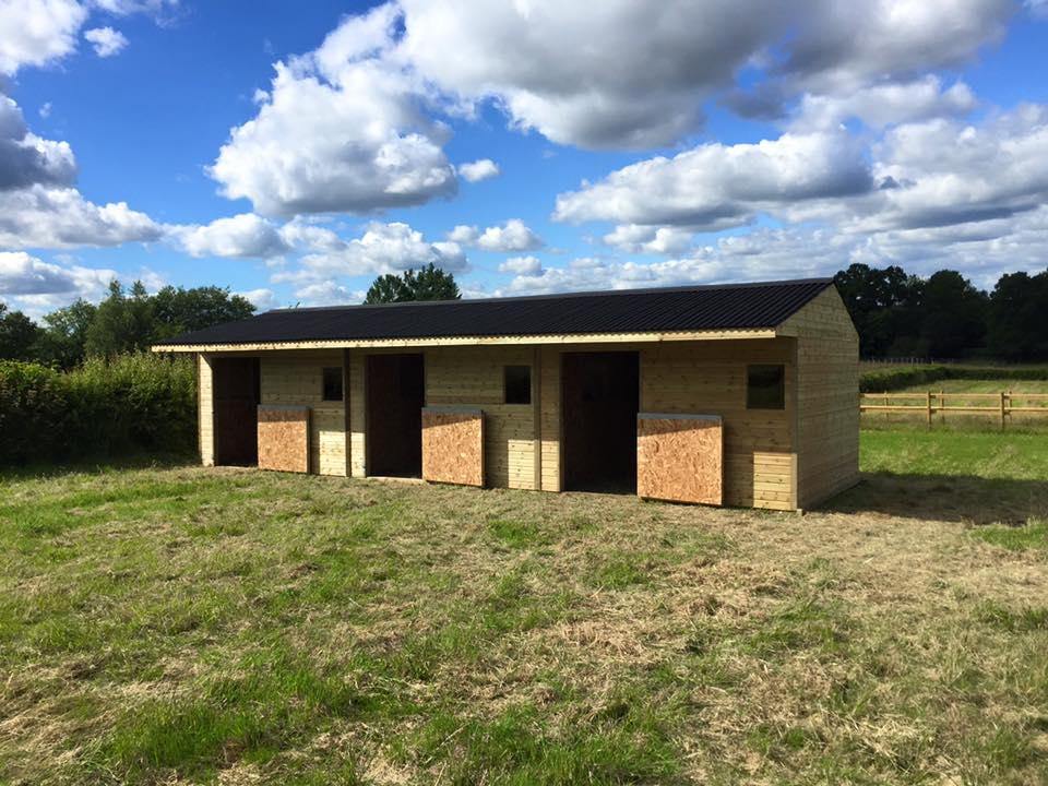 12 x 36 Timber Stable Units