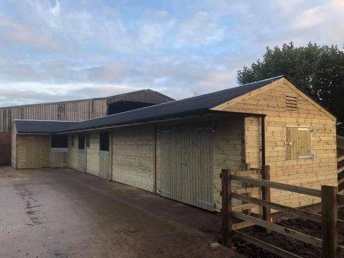 L Shape Timber Stable Block