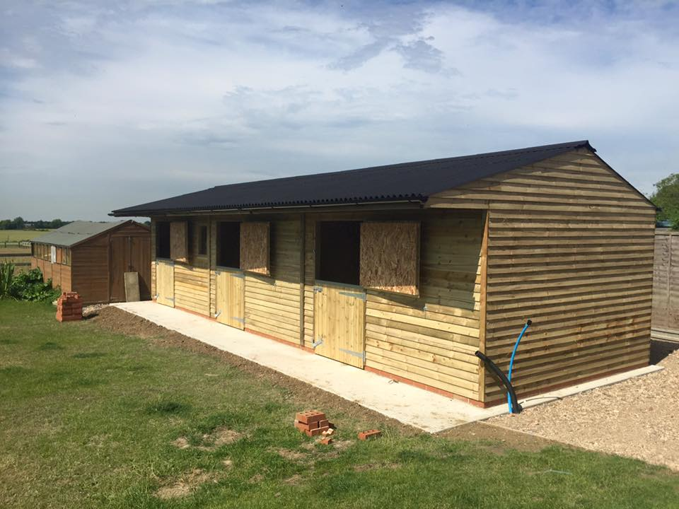 12x36 Stable Block Weatherboard Timber