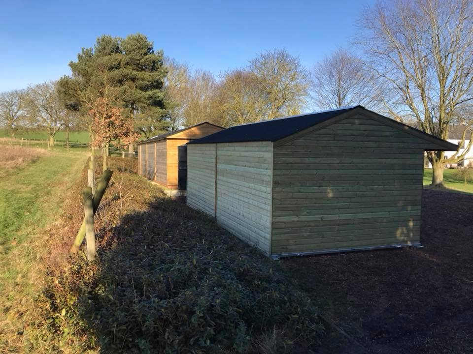 24 x 12 Field Shelter Shiplap Timber Apex Roof