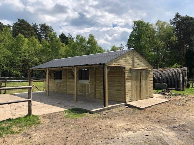 Bespoke Stable Block Front View