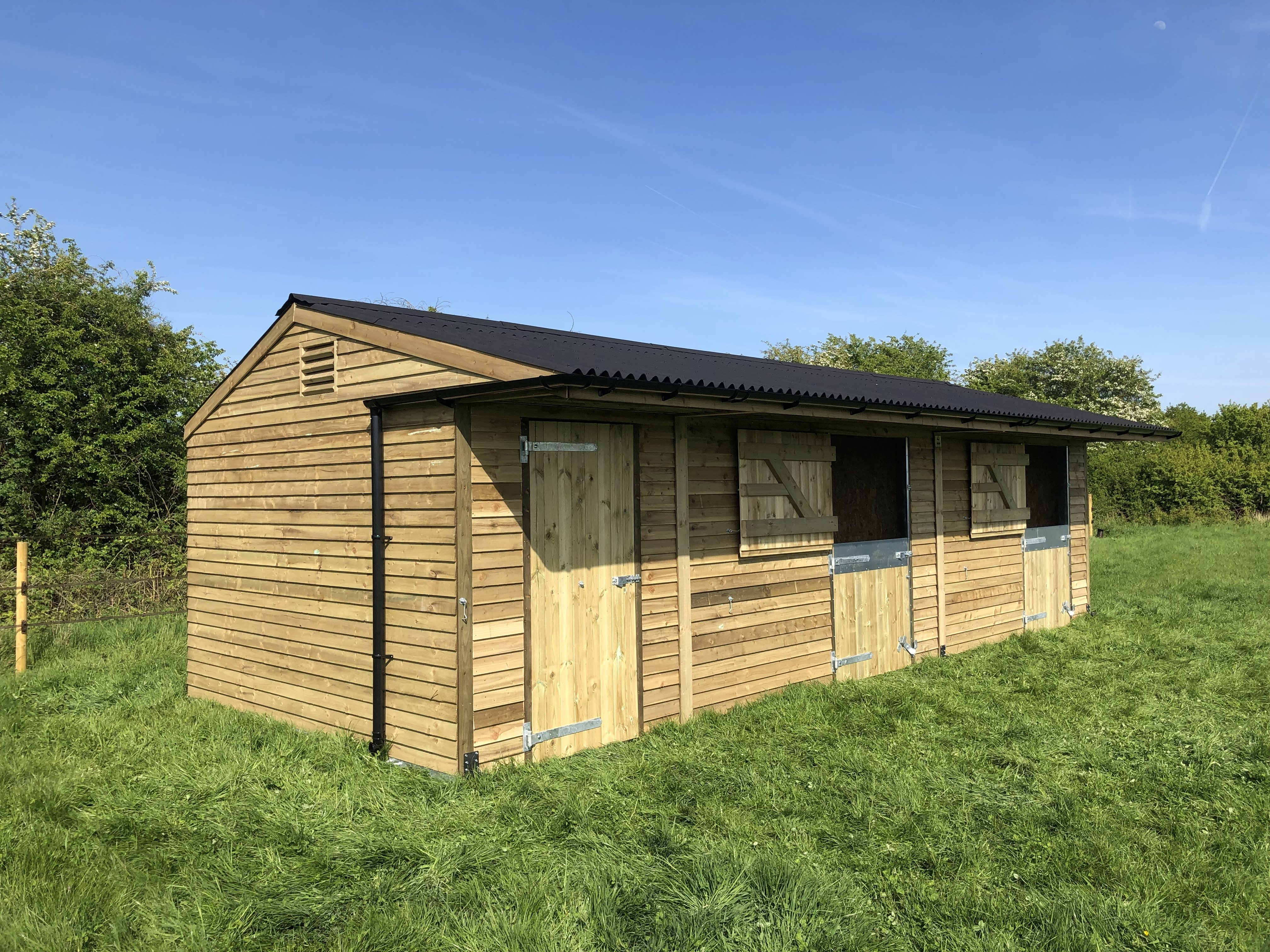 Stables and field shelters care